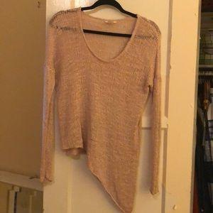 Helmut Lang 100% silk asymmetrical sweater pink